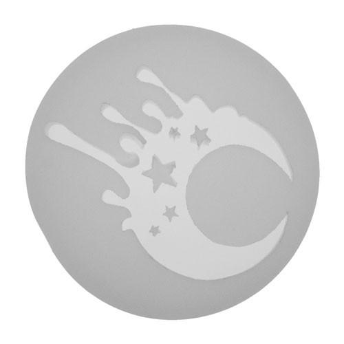 Silicone Melting Moon & Stars Jewelry Pendant Mold
