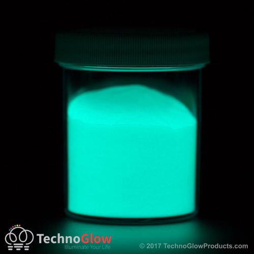 Aqua 35 micron waterproof glow powder.