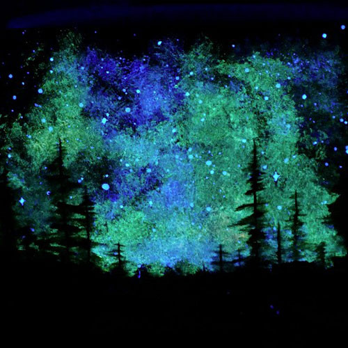 blue glow painting
