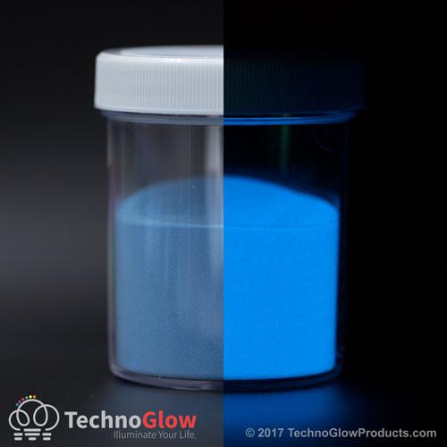 fluorescent blue glow in the dark powder