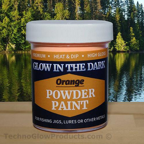 Orange Glow in the Dark Powder Paint - 2.5 oz. Jar