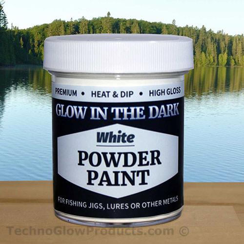 White Glow in the Dark Powder Paint - 2.5 oz. Jar