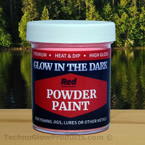 Red Glow in the Dark Powder Paint - 2.5 oz. Jar