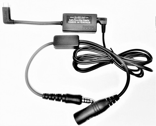 GoPro HERO5 / HERO6 / HERO7 / 2018 HELICOPTER Recording Cockpit Adapter Cable
