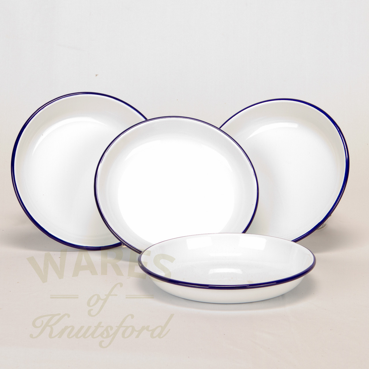 Falcon Enamel Rice Plate Set Of 4 18cm Wares Of