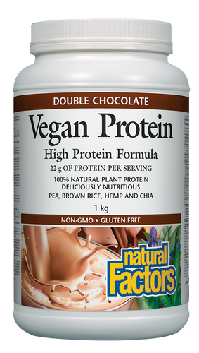 Natural Factors: Vegan Protein - Double Chocolate (1kg)