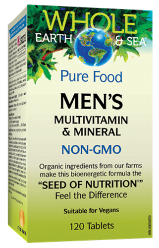 Whole Earth & Sea: Men's Multivitamin & Mineral (120 Tablets)