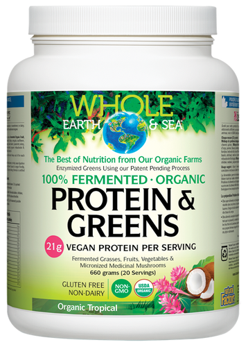 Whole Earth & Sea: Fermented Protein & Greens - Tropical (660g)