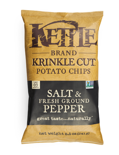 Kettle: Krinkle Cut Chips Salt & Fresh Ground Pepper (220g)