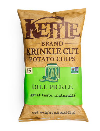 Kettle: Krinkle Dill Pickle Potato Chips (220g)