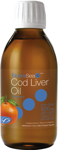 NutraSea: NutraSea+D Cod Liver Oil - Tangerine (200ml)