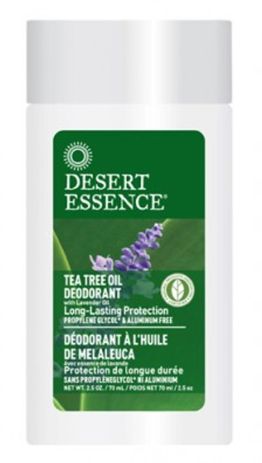 Desert Essence: Tea Tree Deodorant with Lavender (70ml)