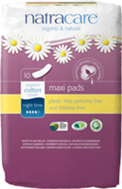 Natracare: Night Time Pads (10 Count)