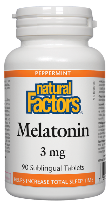 Natural Factors: Melatonin (3mg) (90 Sublingual Tablets)
