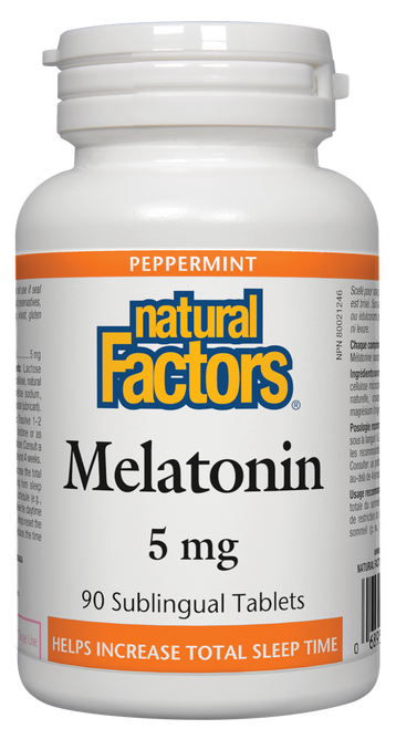 Natural Factors: Melatonin (5mg) (90 Sublingual Tablets)