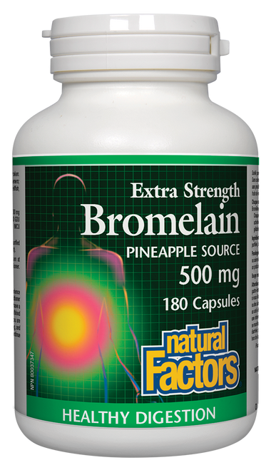 Natural Factors:  Extra Strength Bromelain (500mg) (180 Capsules)