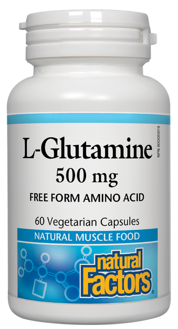 Natural Factors: L-Glutamine (500mg) (60 Vegetarian Capsules)