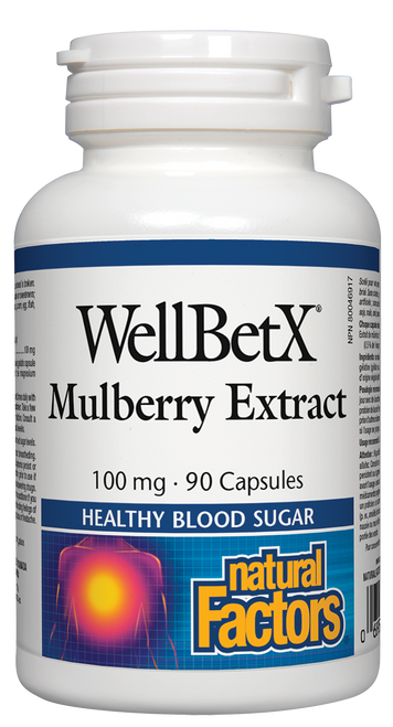 Natural Factors: WellBetX Mulberry Extract (100 mg) (90 Capsules)