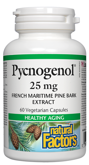 Natural Factors: Pycnogenol (25mg) (60 Vegetarian Capsules)