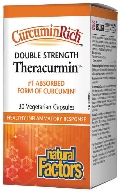 Natural Factors: CurcuminRich Double Strength Theracurmin (30 Vegetarian Capsules)