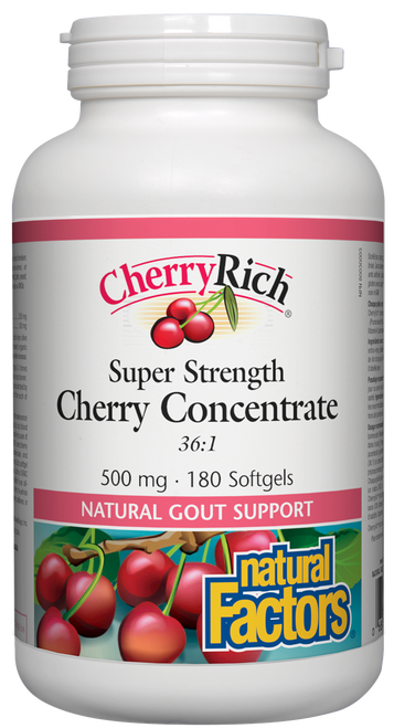 Natural Factors: Cherryrich Super Strength Concentrate (500 mg) (180 Capsules)
