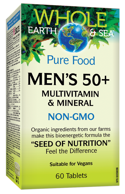 Whole Earth & Sea: Men's 50+ Multivitamin & Mineral (60 Tablets)