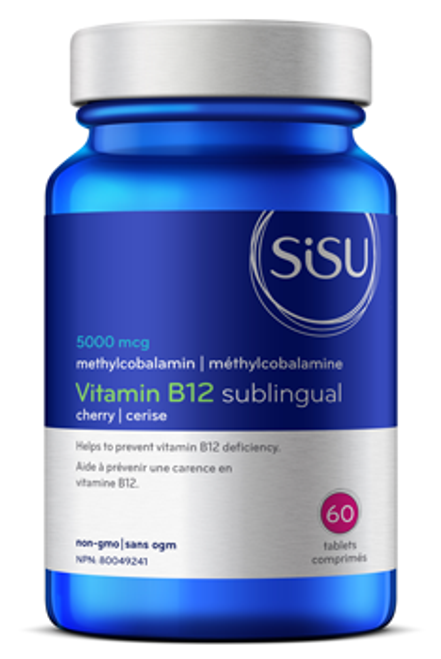 Sisu: B12 Sublingual 5000 mcg (60 Tablets)