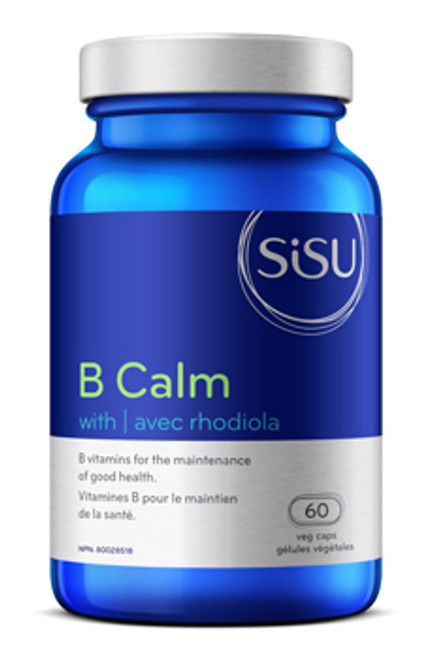 Sisu: B Calm with Rhodiola (60 Vegetarian Capsules)