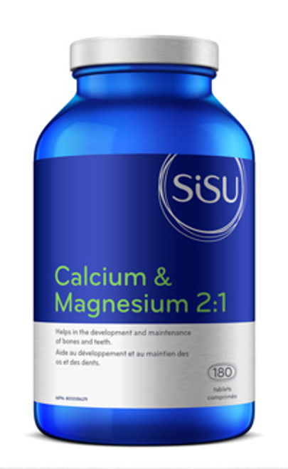 Sisu: Calcium & Magnesium 2:1 with Vitamin D (180 Tablets)