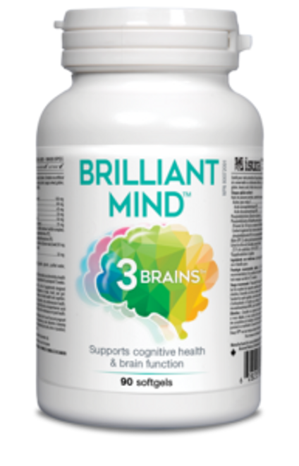 3 Brains: Brilliant Mind (90 Soft Gels)
