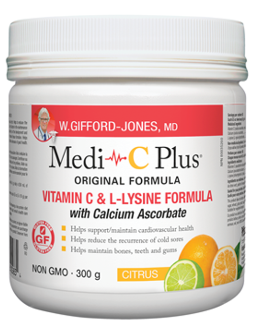 W Gifford-Jones: Medi-C Plus with Calcium Ascorbate - Citrus (300g)