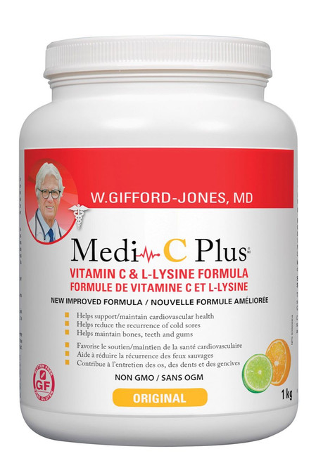 W Gifford-Jones: Medi-C Plus with Calcium Ascorbate - Citrus (1Kg)