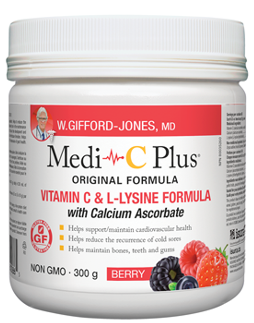 W Gifford-Jones: Medi-C Plus with Calcium Ascorbate - Berry (300g)