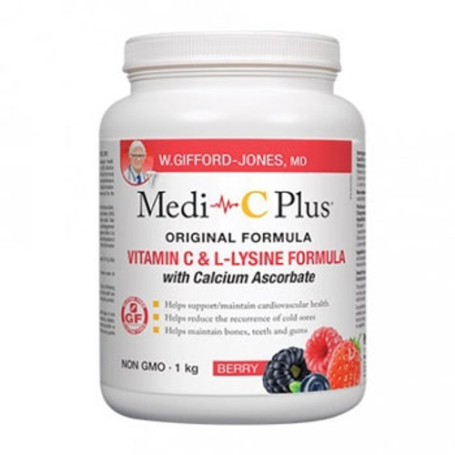 W Gifford-Jones: Medi-C Plus with Calcium Ascorbate - Berry (1Kg)