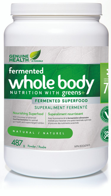 Genuine Health: Fermented Whole Body Nutrition w/ greens+ - Natural (487g)