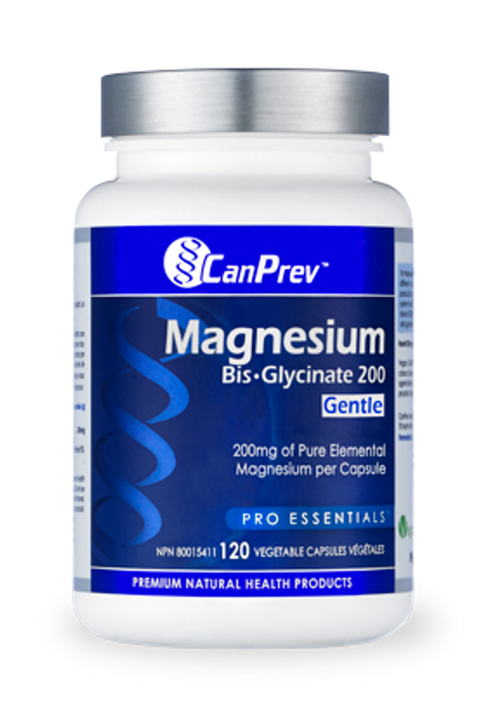 CanPrev: Magnesium Bis Glycinate 200 - Gentle (120 Vegetable Capsules)