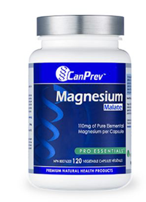 CanPrev: Magnesium Malate (120 Vegetable Capsules)