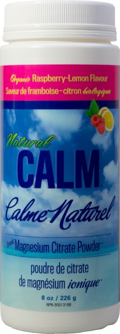 Natural Calm: Magnesium Citrate Powder Raspberry-Lemon (226g)