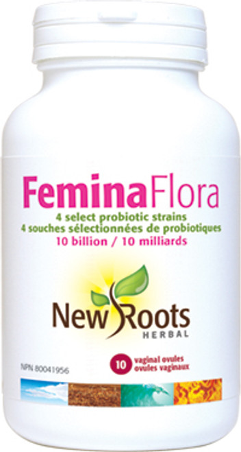 New Roots Herbal: Femina Flora (10 Vaginal Ovuale)
