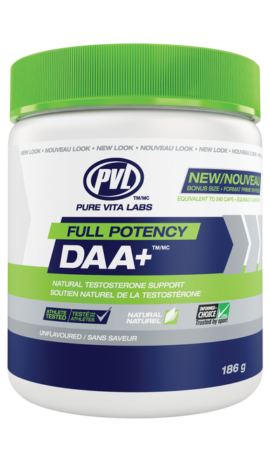 PVL: Full Potency DAA+ - Unflavoured (186g)