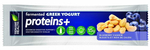 Genuine Health: Fermented Greek Yogurt Proteins+ Bar - Blueberry Cashew (55g)