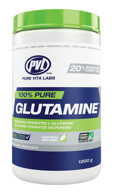 PVL: 100% Pure Glutamine - Unflavoured (1200g)