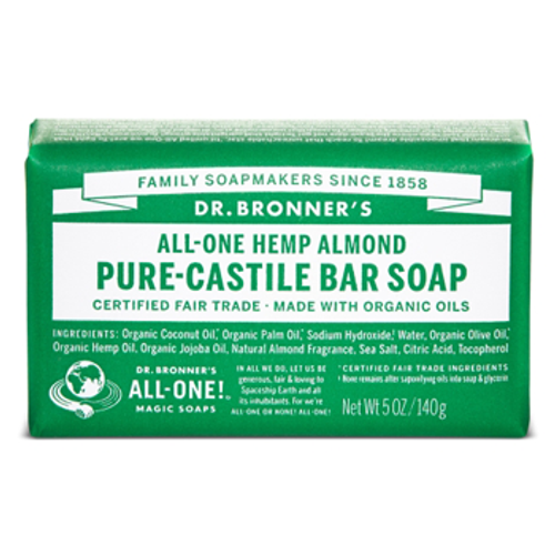 Dr. Bronner's Magic Soap: Almond Pure Castile Bar Soap (140g)