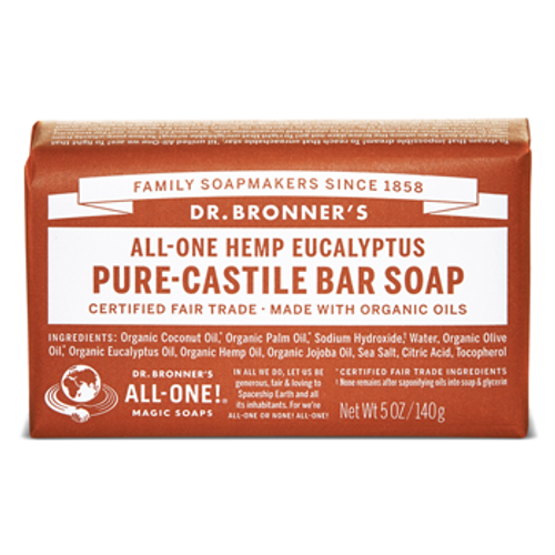 Dr. Bronner's Magic Soap: Eucalyptus Pure-Castile Bar Soap (140g)