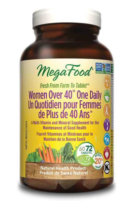 MegaFood: Women Over 40 One Daily Multivitamin (Bonus) (72 Tablets)