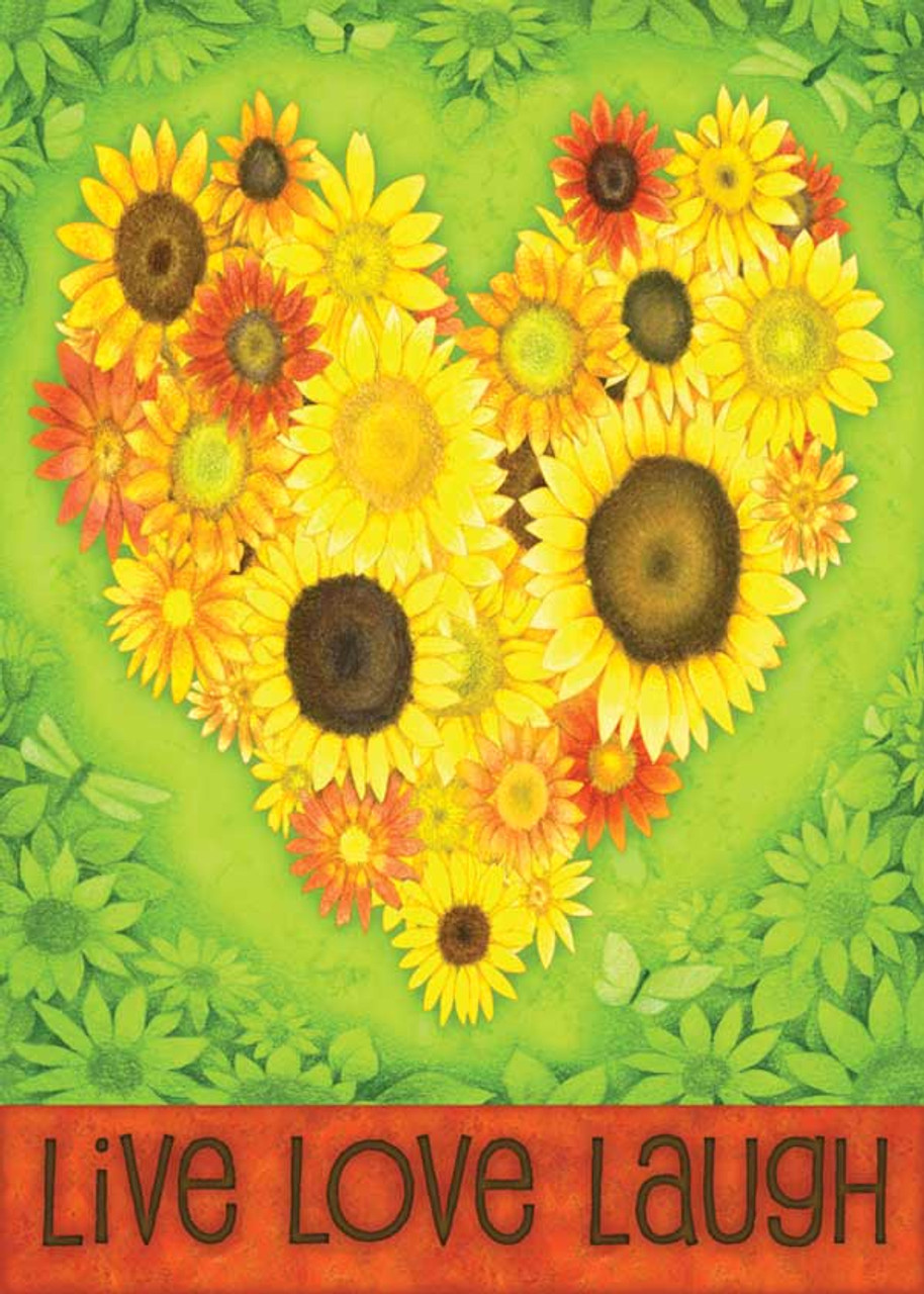 Sunflower Heart   Garden Flag By Toland