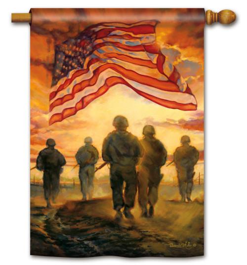 American Heroes Garden Flag