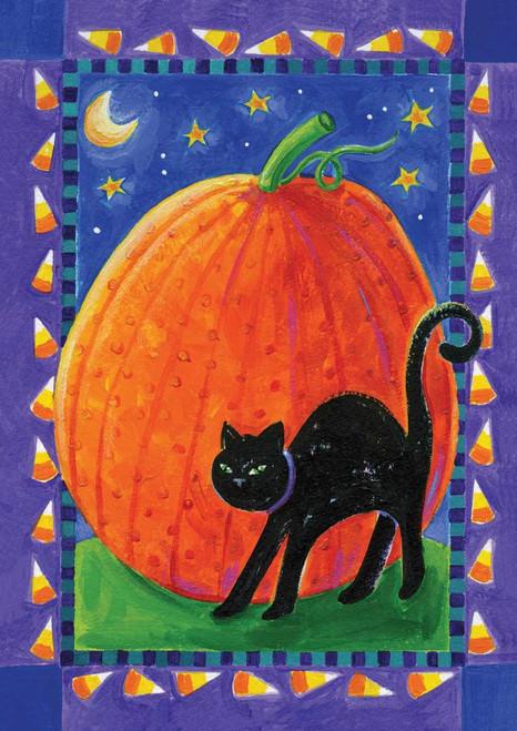 Pumpkin & Cat - Standard Flag by Toland