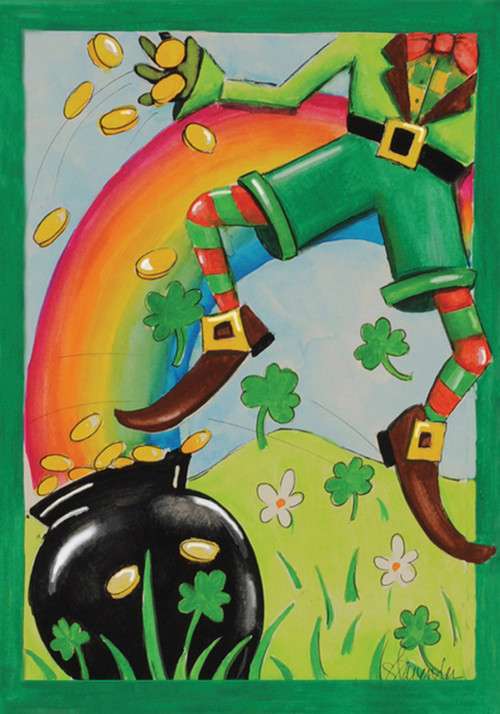Leaping Leprechaun Garden Flag By Toland Seriousflags Com