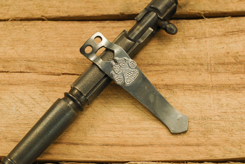 Steel Flame Flashlight Clip - Dog Paw